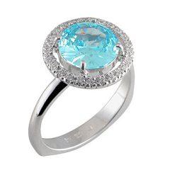 ZLATARNA CELJE - BLUE TOPAZ Gyűrű
