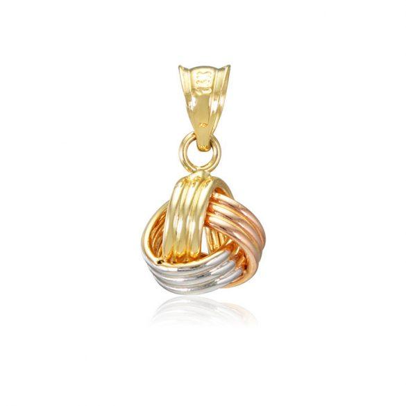 Arany csavart, 3 színű medál