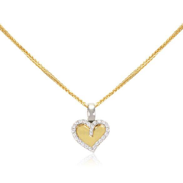 Arany köves, szív medál