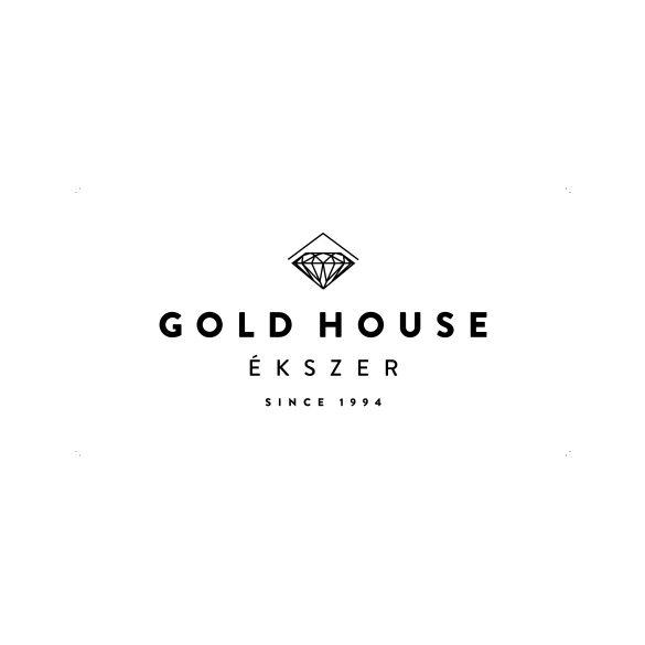 Arany 2 színű, köves medál
