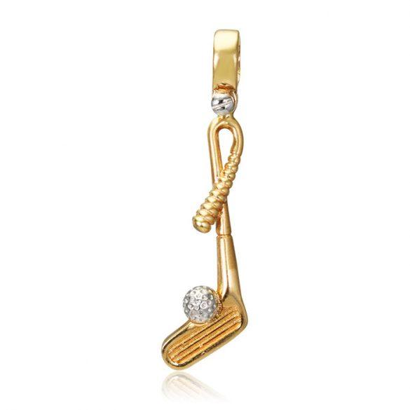 Arany golfütő medál