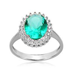 Köves, fehér arany gyűrű - 2926