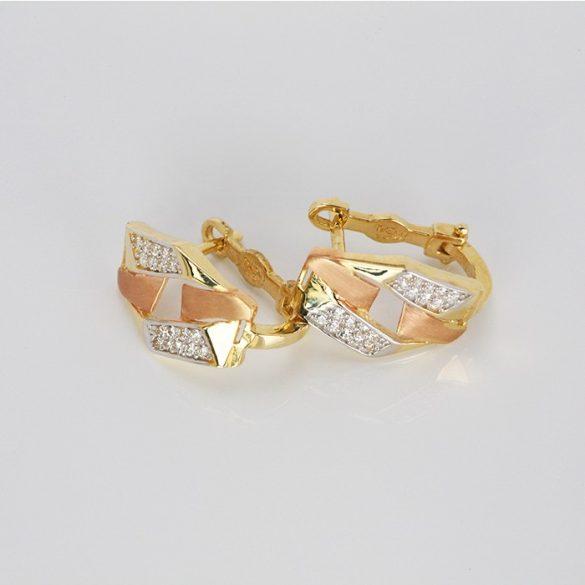 Arany fülbevaló francia zárral - 31033236