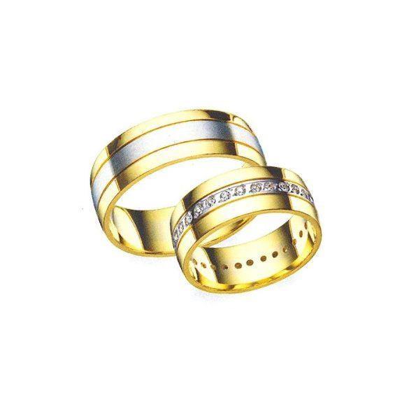 Női Karikagyűrű - 7mm széles, köves