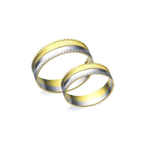 Karikagyűrű - 6mm széles, féldomború