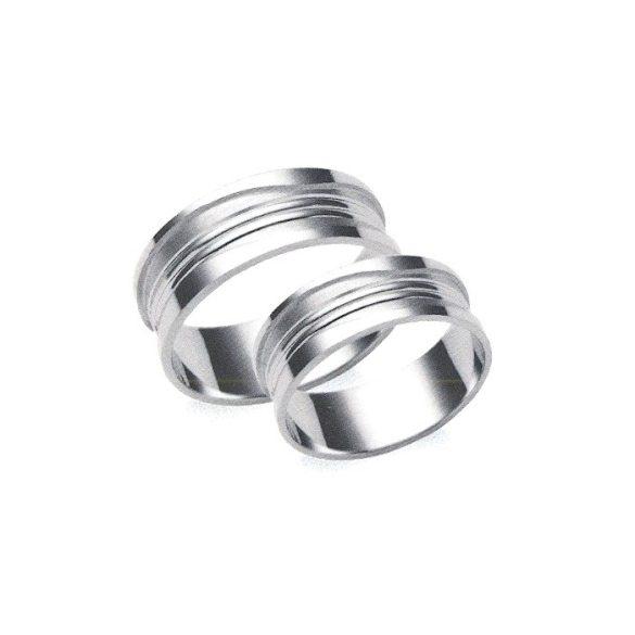 Karikagyűrű - 7mm széles, féldomború