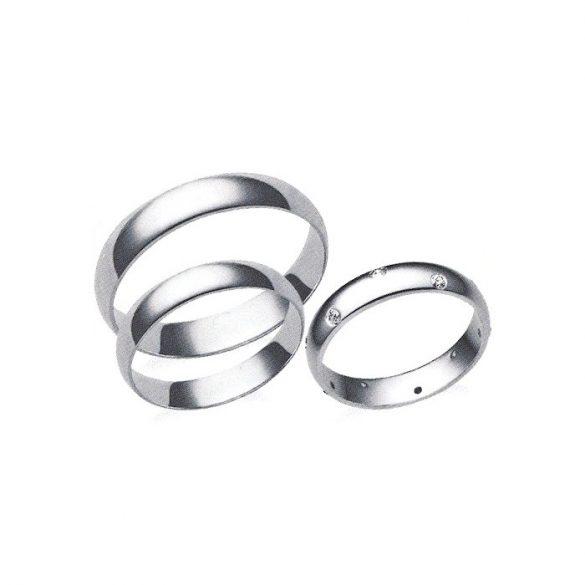 Férfi Karikagyűrű - 4mm széles, féldomború