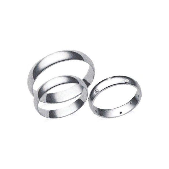 Női Karikagyűrű - 4mm széles, féldomború
