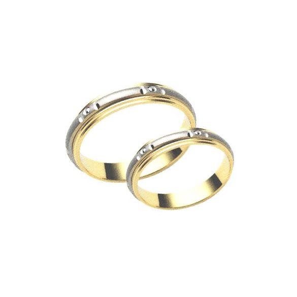 Karikagyűrű - 4mm széles, féldomború, GÖRGŐS