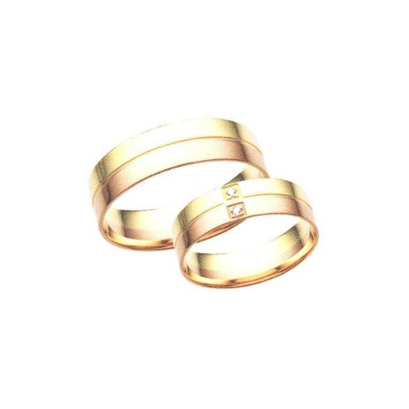 Férfi Karikagyűrű - 6mm széles, lapos