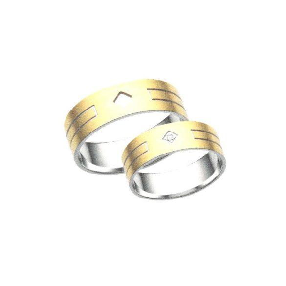 Női Karikagyűrű - 7mm széles, lapos