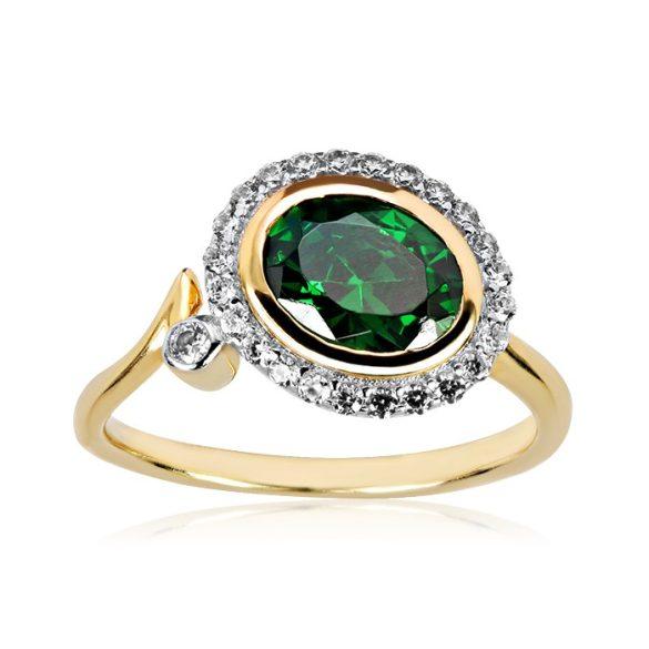 Köves, arany gyűrű - 3351