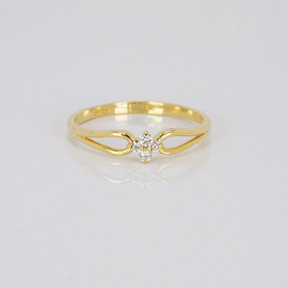 Arany Gyűrű Brillel - 41015437