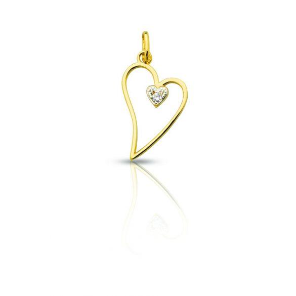 Arany medál, szív - 4102M020F