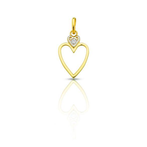 Arany medál, szív - 4102M022F