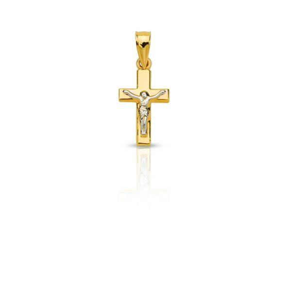 Arany medál, keresz feszülettel - 4102M02F