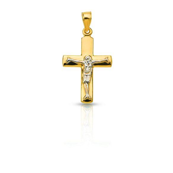 Arany medál, keresz feszülettel - 4102M07F