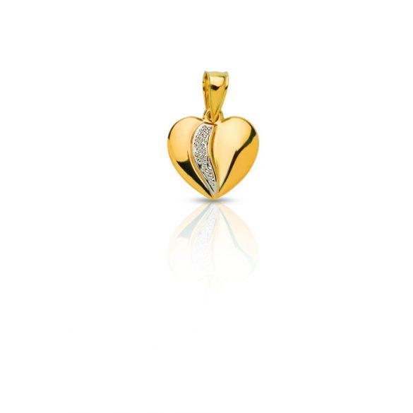 Arany medál, szív - 4102M20F