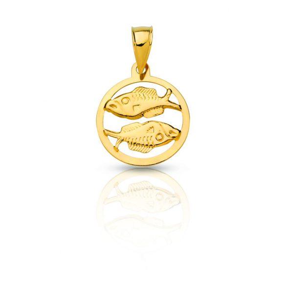 Arany medál, hal - horoszkóp, áttört - 4102M41F