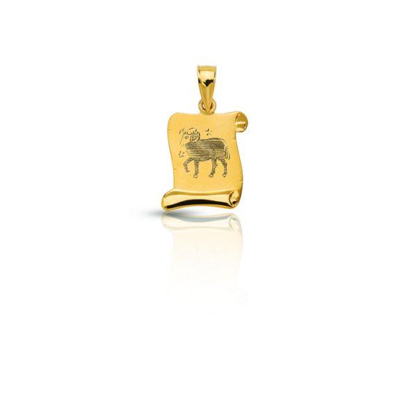 Arany medál, pergamen horoszkóp - 4102M55F