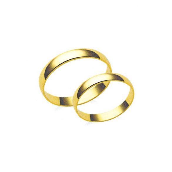 Karikagyűrű - 3mm széles, féldomború