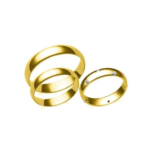 Karikagyűrű - 4mm széles, féldomború