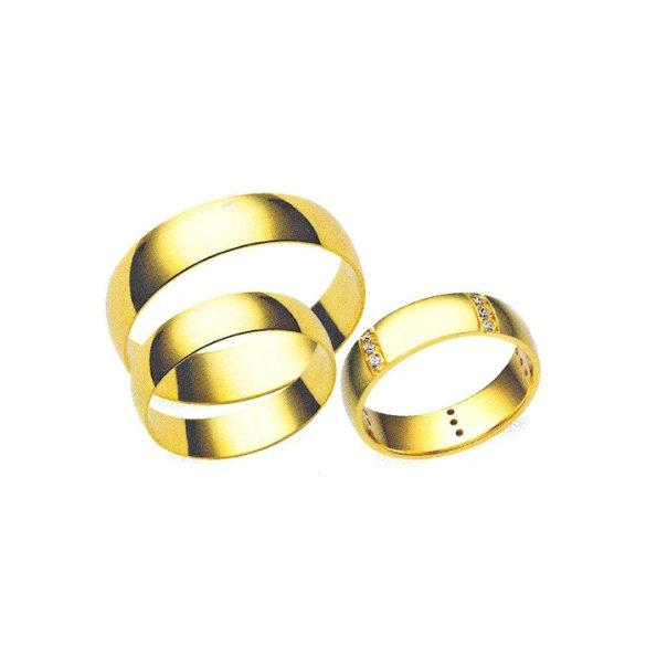 Karikagyűrű - 4mm széles, féldomború (kívül-belül)