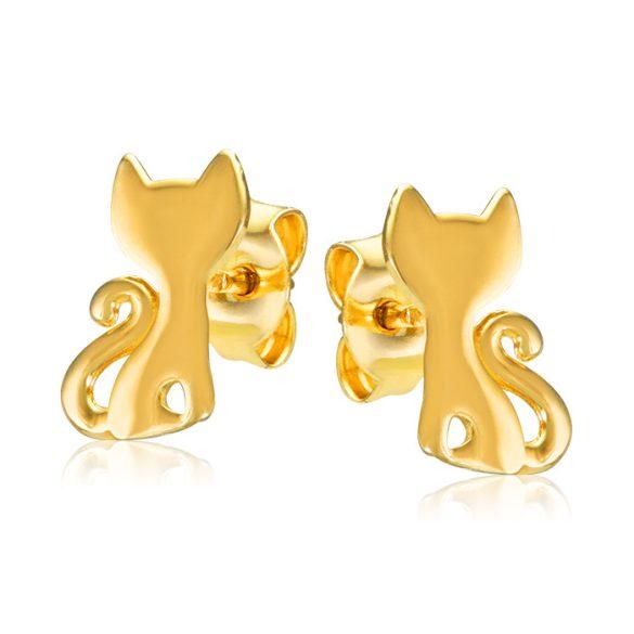 Bébi gyermek fülbevaló - sárga cica
