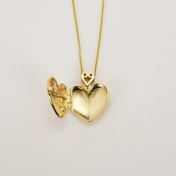 Arany Nyaklánc, nyitható szív medállal - 6307