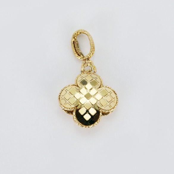 Arany lóhere, kockás medál - 6754H