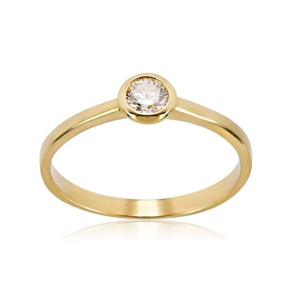 Eljegyzési gyűrű, arany, köves, buton - 71012058