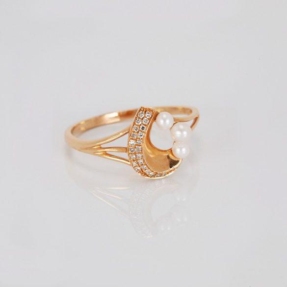 Arany, gyöngyös gyűrű - 71012366