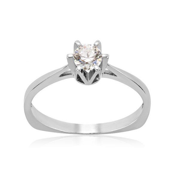 Eljegyzési gyűrű, arany, köves, szoliter - 71013018