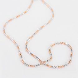 Arany, gyémántvésett, gömb nyaklánc  - 7102H