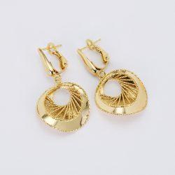 Arany Lézeres Gyémántvésett Fülbevaló - 7114