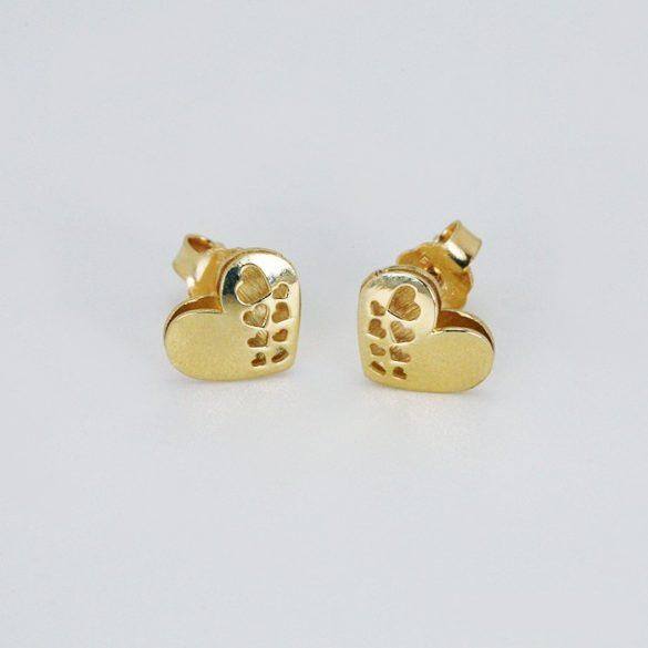 Arany szív fülbevaló - 7369H