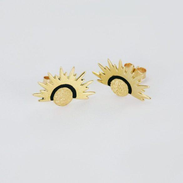 Arany Lézeres, festett fülbevaló - 7556H