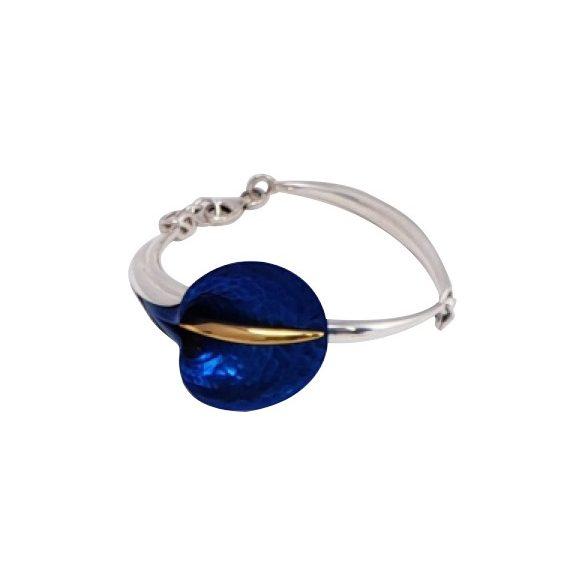 Kék titánium karkötő – AB