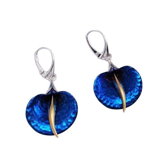 Kék titánium fülbevaló (nagy) – AEH