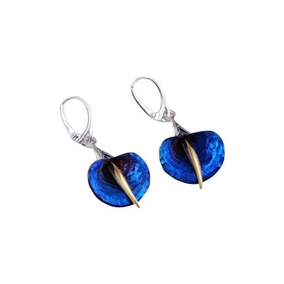 Kék titánium fülbevaló (kicsi) – AEMH