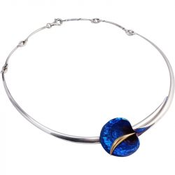 Kék titánium collier  – ANM