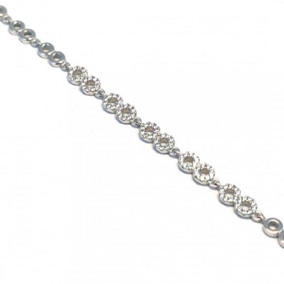 Köves karkötő - állítható  - BR-0061/Ag 925+ Rh