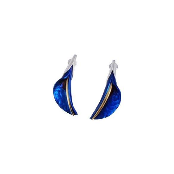 Kék titánium fülbevaló (kicsi) -EEM