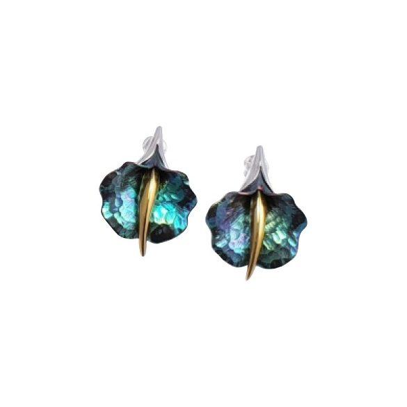 Zöld titánium fülbevaló – GBEM
