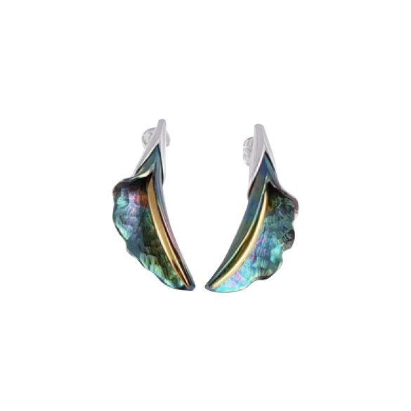 Zöld titánium fülbevaló – GFEM