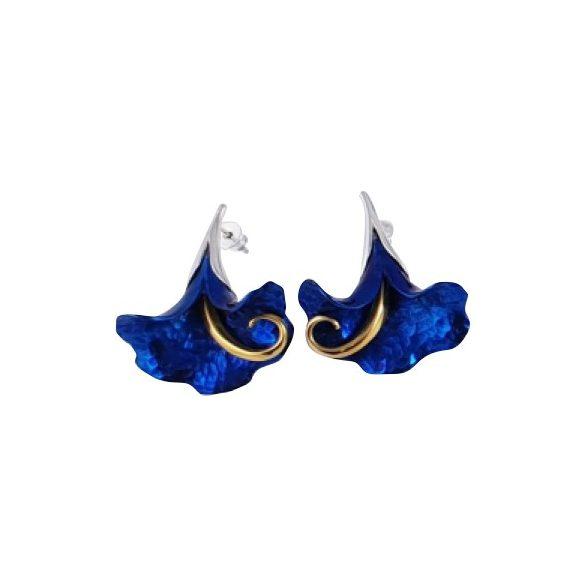 Kék titánium fülbevaló (nagy) - IE