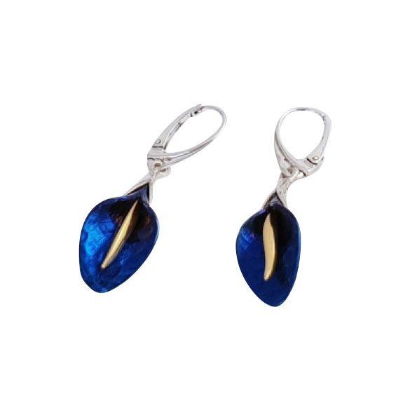 Kék titánium fülbevaló – KEMH