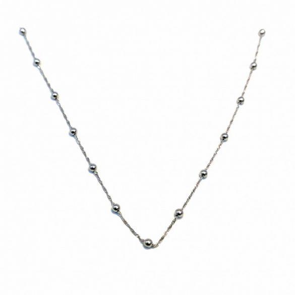 Csavart bogyós lánc - N-0071/Ag 925+ Rh