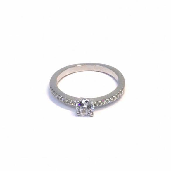 Eljegyzési köves gyűrű  - R-0084/Ag 925+ Rh