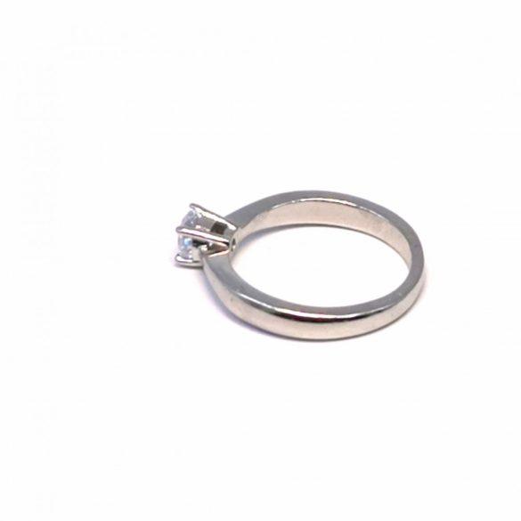 Eljegyzési köves gyűrű  - R-0087/Ag 925+ Rh